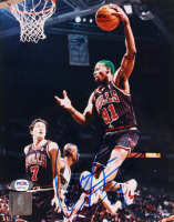 Dennis Rodman Signed Bulls 8x10 Photo (PSA COA) at PristineAuction.com