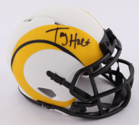 Torry Holt Signed Rams Lunar Eclipse Alternate Speed Mini Helmet (Beckett Hologram) at PristineAuction.com