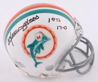 "Mercury Morris Signed Dolphins Mini Helmet Inscribed ""1972 17-0"" (JSA COA) at PristineAuction.com"