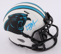 D. J. Moore Signed Panthers Lunar Eclipse Alternate Speed Mini Helmet (Beckett Hologram) at PristineAuction.com