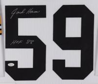 """Jack Ham Signed 35x43 Custom Framed Jersey Display Inscribed """"HOF 88"""" (JSA COA) at PristineAuction.com"""