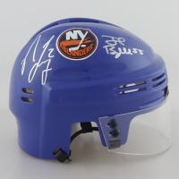 Nick Leddy & Johnny Boychuk Signed Islanders Logo Mini-Helmet (Leddy COA & Boychuk COA) at PristineAuction.com