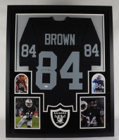 Antonio Browm Signed 35x43 Custom Framed Jersey Display (JSA COA) at PristineAuction.com