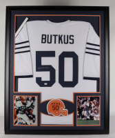 Dick Butkus Signed 35x43 Custom Framed Jersey Display (JSA COA) (See Description) at PristineAuction.com