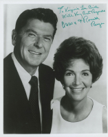 "Ronald & Nancy Reagan Signed 8x10 Photo Inscribed ""With Very Best Wishes"" (Beckett LOA) at PristineAuction.com"