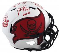 Warren Sapp, Derrick Brooks & John Lynch Signed Buccaneers Full-Size Lunar Eclipse Alternate Speed Helmet With Multiple Inscriptions (Beckett Hologram) at PristineAuction.com
