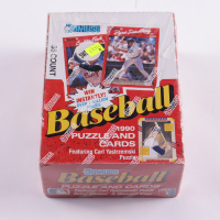 1990 Donruss Baseball Puzzle and Cards Hobby Box of (36) Packs (See Description) at PristineAuction.com