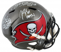 Warren Sapp, Derrick Brooks & John Lynch Signed Buccaneers Full-Size Speed Helmet With Multiple Inscriptions (Beckett Hologram) at PristineAuction.com