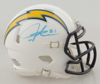 LaDainian Tomlinson Signed Chargers Matte White Speed Mini-Helmet (Beckett Hologram & Tomlinson Hologram) at PristineAuction.com