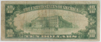 1929 $10 Ten Dollar The Farmers And Merchants Bank Currency Brown Seal Bank Note at PristineAuction.com