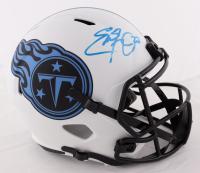 Eddie George Signed Titans Full-Size Lunar Eclipse Alternate Speed Helmet (Beckett COA) at PristineAuction.com