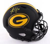 Aaron Jones Signed Packers Full-Size Eclipse Alternate Speed Helmet (Beckett COA) at PristineAuction.com