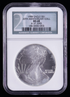 1998 American Silver Eagle $1 One Dollar Coin - 20th Anniversary Coll (NGC MS68) at PristineAuction.com