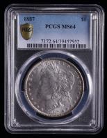 1887 Morgan Silver Dollar (PCGS MS64) at PristineAuction.com