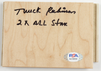 """Truck Robinson Signed 4x6 Floor Board Piece Inscribed """"2X All Star"""" (PSA COA) at PristineAuction.com"""