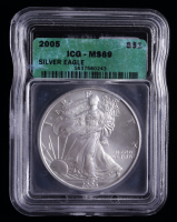 2005 American Silver Eagle $1 One Dollar Coin (ICG MS69) at PristineAuction.com