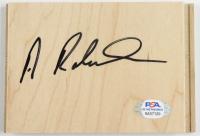 Alvin Robertson Signed 3.5x5 Floor Board Piece (PSA COA) at PristineAuction.com