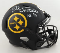 "Jack Lambert Signed Steelers Full-Size Eclipse Alternate Speed Helmet Inscribed ""HOF 90"" (Beckett COA) (See Description) at PristineAuction.com"