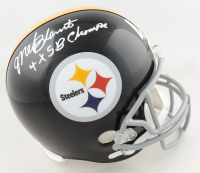 """Mel Blount Signed Steelers Full-Size Helmet Inscribed """"4x S.B. Champs"""" (Beckett COA) at PristineAuction.com"""