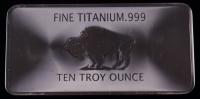 "Ten Troy Oz ""Buffalo"" .999 Fine Titanium Bullion Bar at PristineAuction.com"