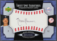 Randy Johnson 2005 Sweet Spot Signatures Red Stitch Black Ink #RJ #001/175 at PristineAuction.com