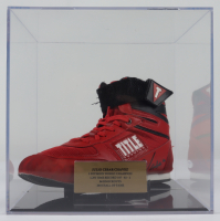 Julio Cesar Chavez Signed Title Boxing Shoe With Display Case (PSA COA) at PristineAuction.com