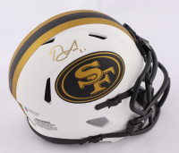Brandon Aiyuk Signed 49ers Lunar Eclipse Alternate Speed Mini Helmet (Beckett COA) at PristineAuction.com