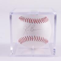 Ken Burns Signed OL Baseball with Display Case (JSA COA & Marshall LOA) (See Description) at PristineAuction.com