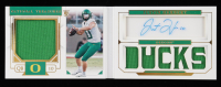 Justin Herbert 2020 Panini National Treasures Collegiate #104 Jersey Autograph RC #40/99 at PristineAuction.com
