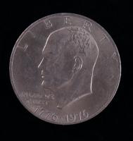 1976 Eisenhower Bicentennial 1776-1976 United States Dollar at PristineAuction.com