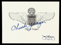 "Charles ""Chuck"" Yeager Signed 2.5x3.5 Cut (JSA SOA) at PristineAuction.com"