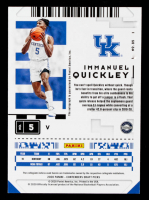 Immanuel Quickley 2020-21 Panini Contenders Draft Picks #85 Autograph at PristineAuction.com