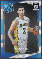 Lonzo Ball 2017-18 Donruss Optic #199 RR RC at PristineAuction.com