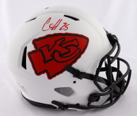 Clyde Edwards-Helaire Signed Chiefs Full-Size Authentic On-Field Lunar Eclipse Alternate Speed Helmet (Beckett Hologram) (See Description) at PristineAuction.com