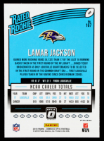 Lamar Jackson 2018 Donruss Optic Pink #167 Rated Rookie at PristineAuction.com