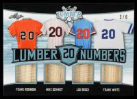 Frank Robinson / Mike Schmidt / Lou Brock / Frank White 2021 Leaf Lumber Lumber Numbers Platinum #LN14 #3/6 at PristineAuction.com
