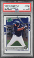 Jasson Dominguez 2020 Donruss Optic Rated Prospects #11 RC (PSA 10) at PristineAuction.com