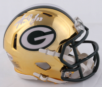 Aaron Jones Signed Packers Chrome Speed Mini Helmet (Beckett COA) at PristineAuction.com