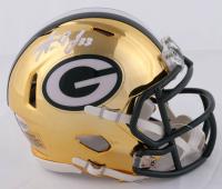 Aaron Jones Signed Packers Chrome Speed Mini Helmet (Beckett COA) at PristineAuction.com