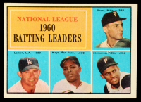Dick Groat / Norm Larker / Willie Mays / Roberto Clemente 1961 Topps #41 NL Batting Leaders at PristineAuction.com