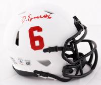 DeVonta Smith Signed Alabama Crimson Tide Lunar Eclipse Alternate Speed Mini Helmet (Beckett Hologram) at PristineAuction.com