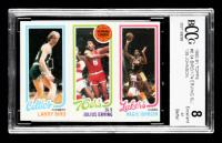 34 Larry Bird / 174 Julius Erving / 139 Magic Johnson 1980-81 Topps #6 RC TL (BCCG 8) at PristineAuction.com