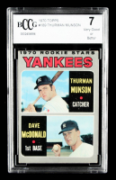 Thurman Munson / Dave McDonald 1970 Topps #189 Rookie Stars RC (BCCG 7) at PristineAuction.com