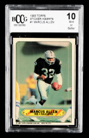 Marcus Allen 1983 Topps Sticker Inserts #1 (BCCG 10) at PristineAuction.com