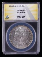 1883-O Morgan Silver Dollar VAM-36B (ANACS MS60) at PristineAuction.com