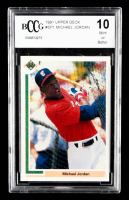 Michael Jordan 1991 Upper Deck #SP1 SP Shown batting in/White Sox uniform (BCCG 10) at PristineAuction.com