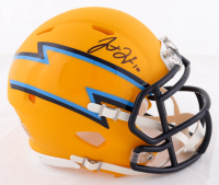 Justin Herbert Signed Chargers AMP Alternate Speed Mini Helmet (Beckett COA) at PristineAuction.com