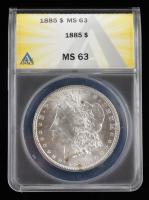 1885 Morgan Silver Dollar (ANACS MS63) at PristineAuction.com