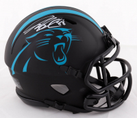 Greg Olson Signed Panthers Eclipse Alternate Speed Mini Helmet (Beckett COA) at PristineAuction.com