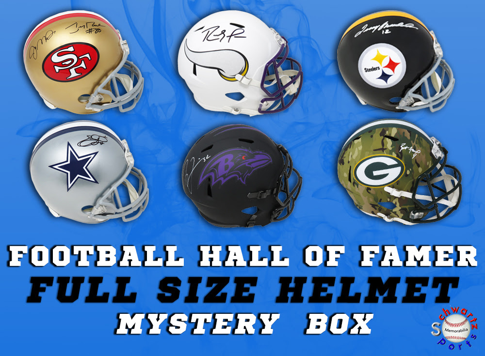 Schwartz Sports Football Hall of Famer Signed Full-Size Helmet Mystery Box Series 11 (Limited to 75) at PristineAuction.com